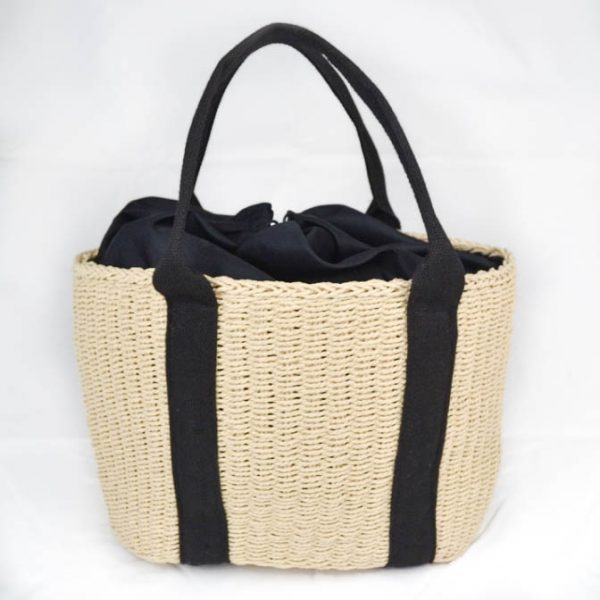Mara Summer Tote Bag Creme and Black