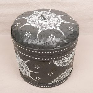 Bali Woven Round Box Grey Medium