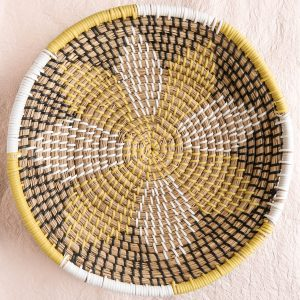 Sol Handwoven Bowl Yellow White Black Thailand