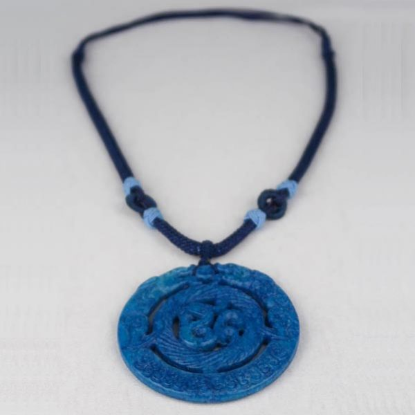 Chinese Medaillon Necklace Blue