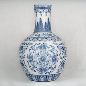 Chinese Vase Blue and White Flower front