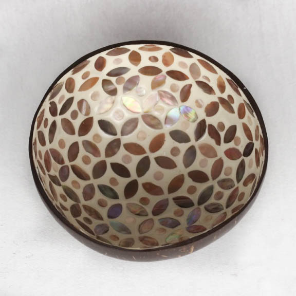 Thale Coconut Bowl Mother of Pearl Pattern Inside