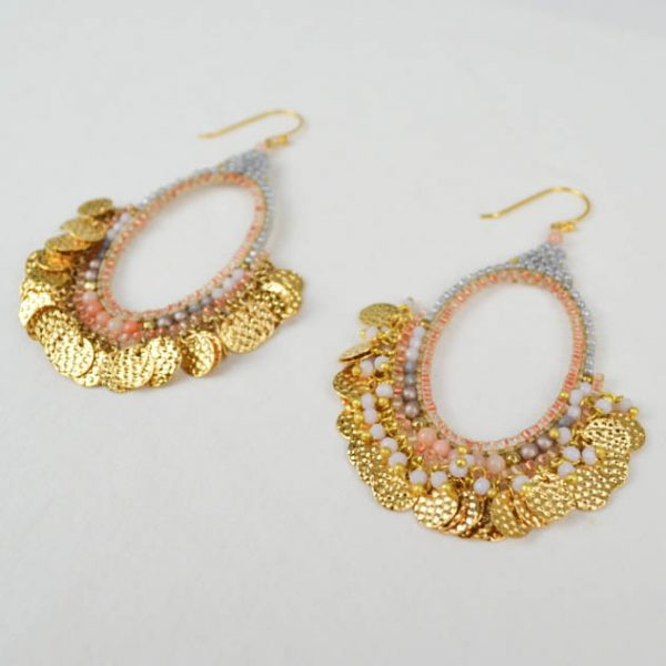 Memories of the Sun Hoop Earrings Gold Perspective