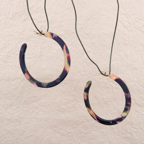 Electric Purple Hoop Earrings