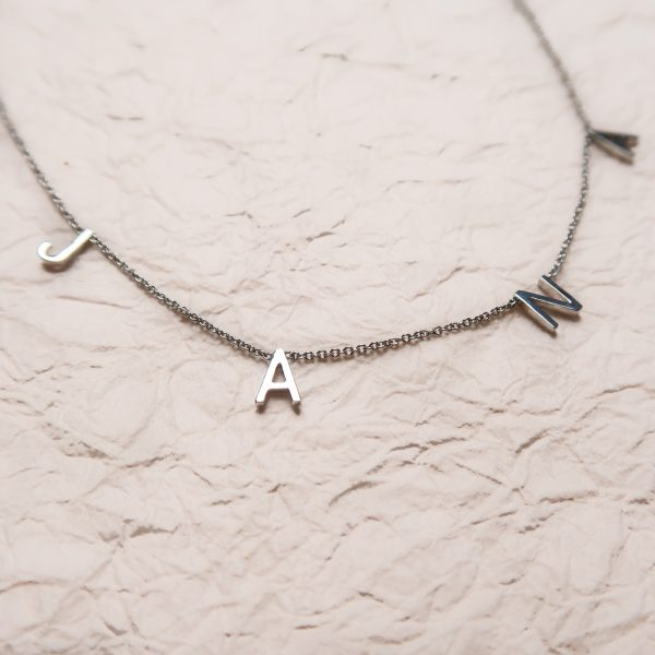 Custom Letter Necklace Sterling Silver