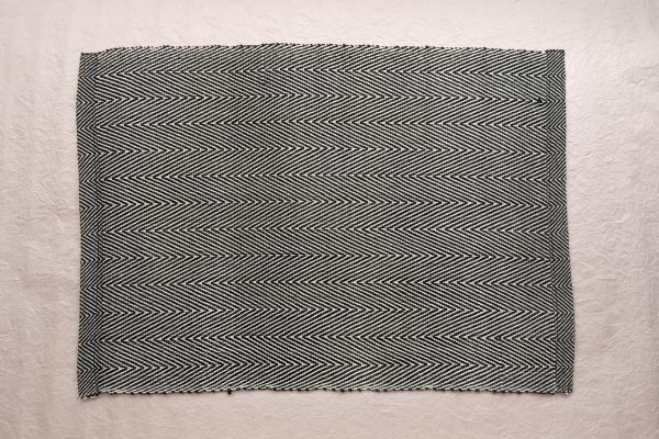 Fay Cotton Placemats Black and White Geometric Pattern