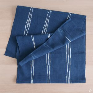 Handwoven Natural Indigo Table Runners with Diamond Pattern Studio Naenna Chiang Mai Thailand