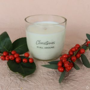 Christmas Gifts Sustainable Handmade Candle Donation Christmas Is All Around Staged