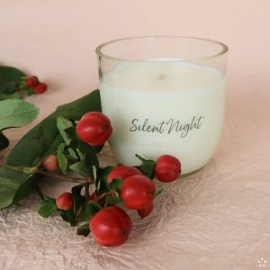Christmas Gifts Sustainable Handmade Candle Donation Silent Night with Flowers