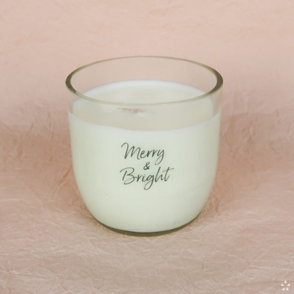Christmas Gifts Sustainable Handmade Candle Donation Merry and Bright