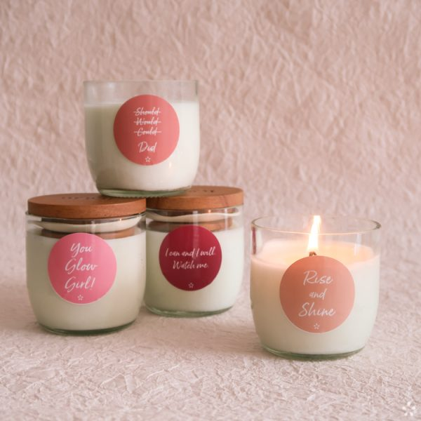 Candles with Motivational Quotes Girlboss Donation for Domestic Violence Shelters