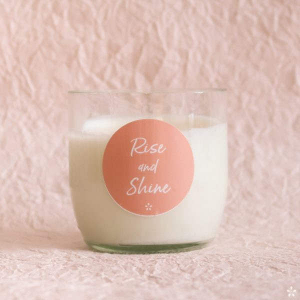 Candles with Motivational Quotes Girlboss Donation for Domestic Violence Shelters Rise and Shine