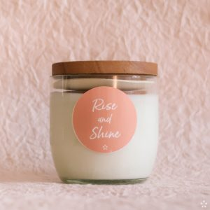 Candles with Motivational Quotes Girlboss Donation for Domestic Violence Shelters Rise and Shine with Lid