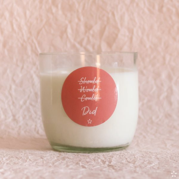 Candles with Motivational Quotes Girlboss Donation for Domestic Violence Shelters Should Would Could Did