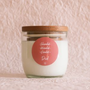 Candles with Motivational Quotes Girlboss Donation for Domestic Violence Shelters Should Would Could Did with Lid
