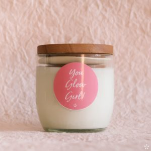 Candles with Motivational Quotes Girlboss Donation for Domestic Violence Shelters You Glow Girl