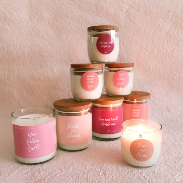 Candles with Motivational Quotes Girlboss Donation for Domestic Violence Shelters All Candles