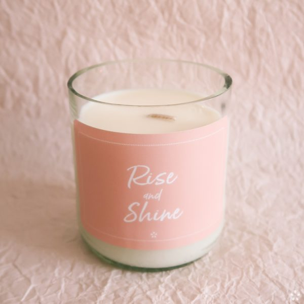 Deluxe Candles with Motivational Quotes Girlboss Donation for Domestic Violence Shelters Rise and Shine