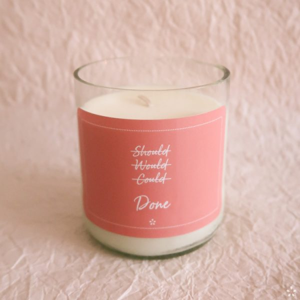 Deluxe Candles with Motivational Quotes Girlboss Donation for Domestic Violence Shelters Should Would Could Done