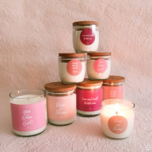 Simple Tips for a Chic and Functional Home Office Candles with Motivational Quotes Girlboss Donation for Domestic Violence Shelters All Candles
