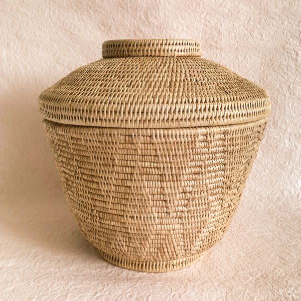 Handmade Woven Rattan Baskets With Lid XL