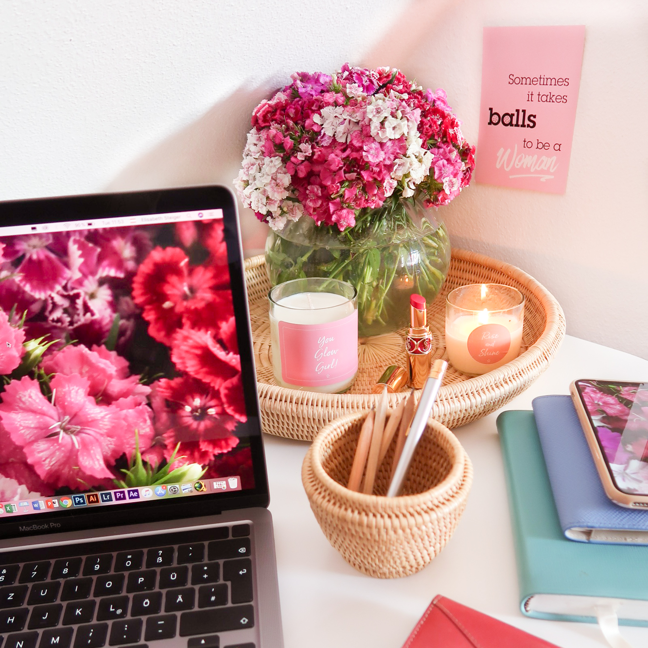 Simple Tips for a Chic and Functional Home Office Dara Tray Liha Basket Pencils