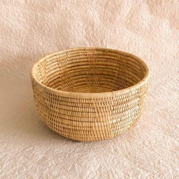 Handmade Woven High Basket Cambodia Front Perspective